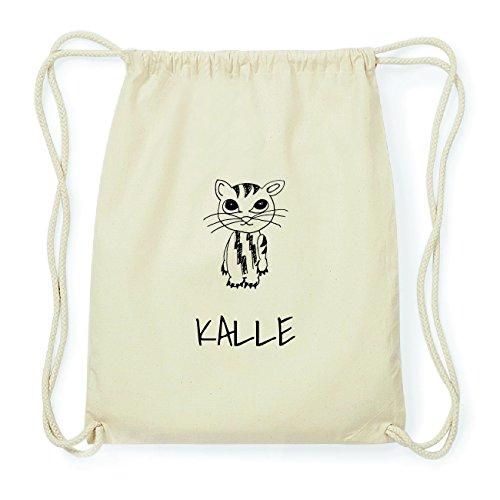 JOllipets KALLE Hipster Turnbeutel Tasche Rucksack aus Baumwolle Design: Katze Wo4FH6R