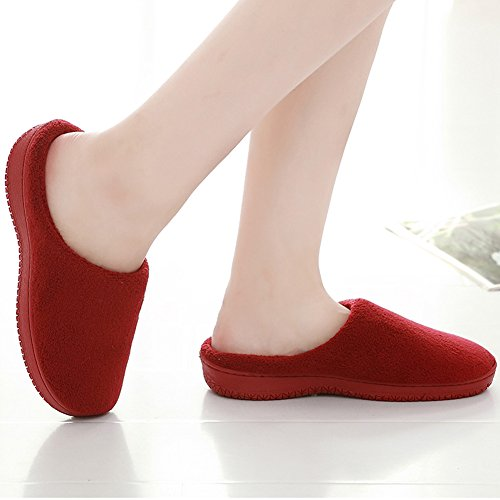 Women's SCIEN Wine Soft Red House Slippers SRqFdRw