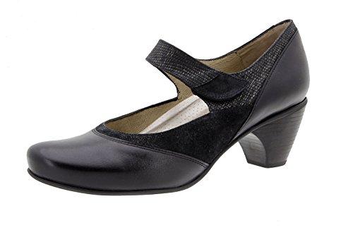 PieSanto Damen Schuhe Komfort Schablone Kupplung–Leder in Bordeaux und Schwarz Farben Erhältlich, sind mit Gravur in Leder–�?407–�?15114 Schwarz