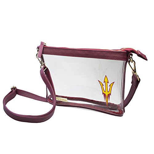 Capri Designs Clear Small Crossbody Bag Stadium Approved - ASU Sun Devils
