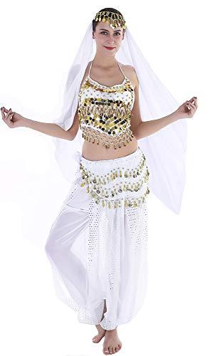 Seawhisper Genie Halloween Costumes Adult Women Aladdin Costume Jasmine White
