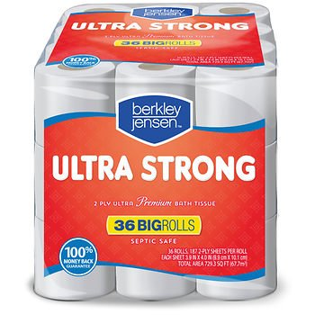 (Berkley Jensen Ultra Strong Bath Tissue, 187 sheets/36 ct.)