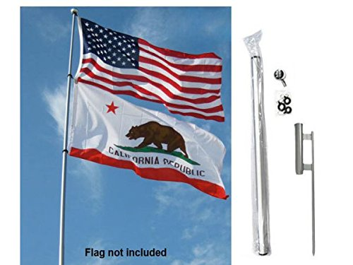24ft Fiberglass Telescoping Pole Kit (w/Ground (24' Pole Flags)