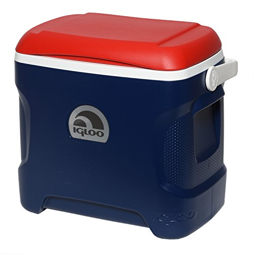 Igloo Contour Cooler (Blue/Red/White, 30-Quart)