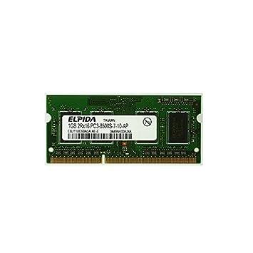 1 GB de memoria RAM para ordenador portátil, SODIMM Elpida EBJ11UE6BASA-AE-E, DDR3, PC 3-8500S 1066MHz CL7: Amazon.es: Electrónica