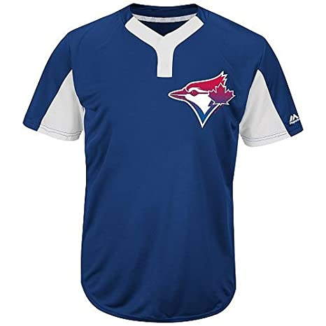 34a90a3ab Majestic Royal/White 2-Button Cool-Base Toronto Blue Jays Blank or Custom  Back (Name/#) MLB Officially Licensed Baseball Placket Jersey