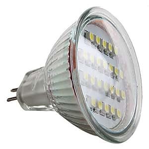 HE SHOP MR16 1.5W 24x3528 SMD 50-60LM Natural White Light LED Spot Bulb (12V)