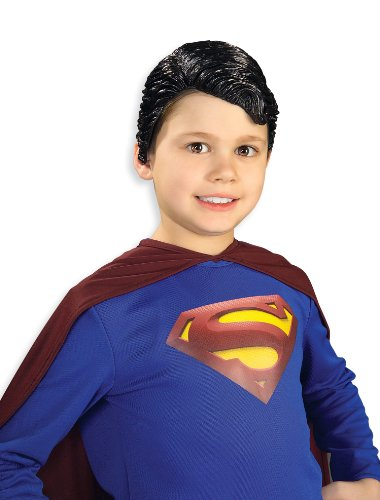 (Superman Vinyl Wig Child Rubie's)