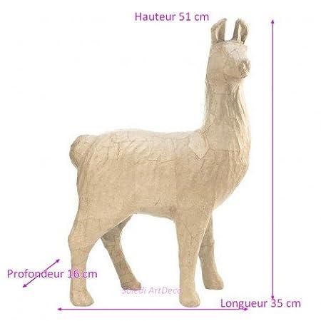 décopatch big lama in paper mache animal sculpture south america