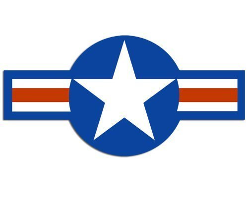 GHaynes Distributing US Air Force Roundel Shaped Sticker Decal (usaf plane star decal) Size: 2.5 x 5 ()