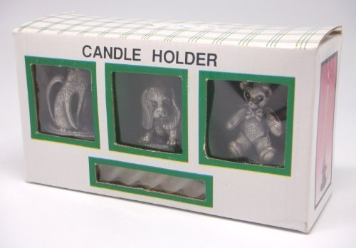 3 Animal Candle Holders w/Candles (Boxed) (Item # 1379)