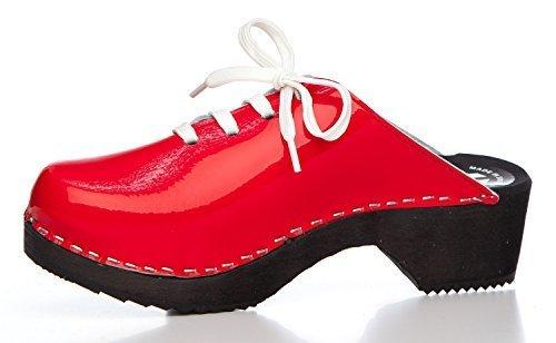 BUR Clogs - Zuecos de material sintético para mujer Rosso (rosso)