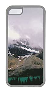 Customized Case landscapes nature snow lake 21 TPU Transparent for Apple iPhone 5C