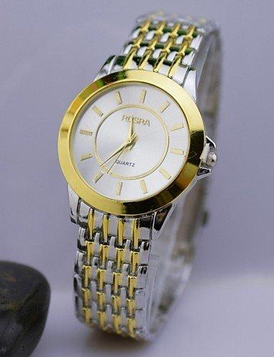 QFDZHS 4569227 - Reloj de pulsera Hombre, color Color: blando y dorado: Amazon.es: Relojes