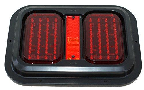 Kaper II L15-0089BLK Red Trailer Stop/Turn/Tail Light