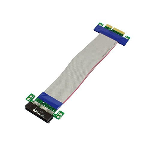 TENEXT PCI-E Express 4x Slot Flexible Extension Riser Ribbon Cable
