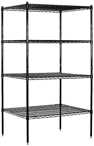 Salsbury Industries Stationary Wire Shelving Unit, 36-Inch Wide by 74-Inch High by 24-Inch Deep, ()