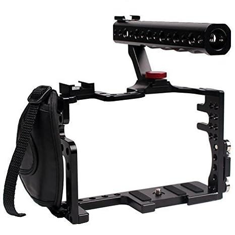DSLR cámara Rig Cámara Jaula con empuñadura superior para ...