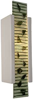 product image for ReFusion Zen Garden 1 Light Wall Sconce Finish: White Gloss and Multi Seaweed