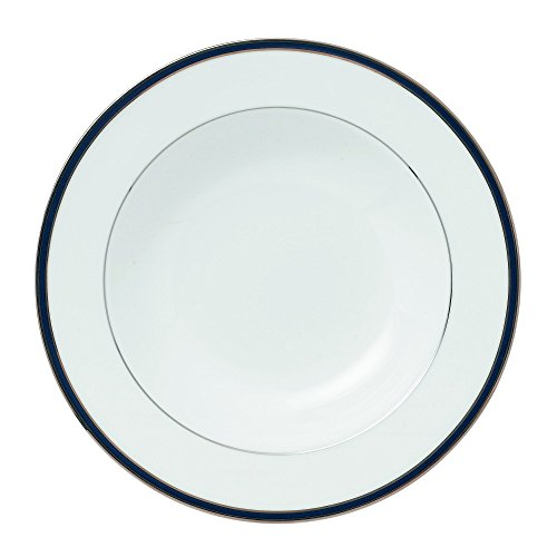 "Royal Doulton Signature Blue Rim Soup Bowl, 9"", White"