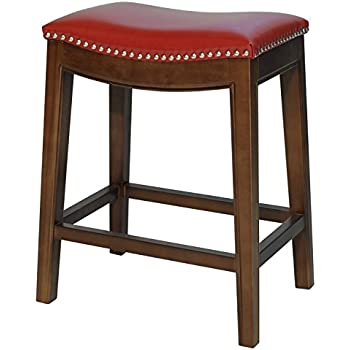 "Amazon.com: 4 24"" Red Cushion Saddle Back Kitchen Counter"