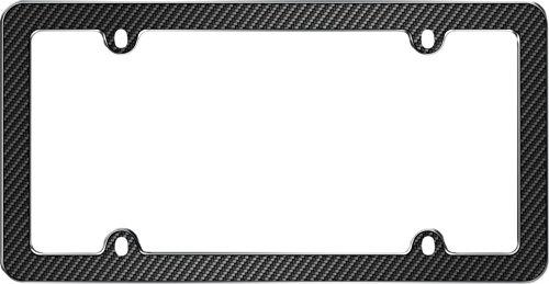 Carbon License Plate Frame (Cruiser Accessories 59053 Black/Chrome 'Fiber' License Plate)