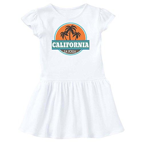 inktastic LA Jolla California Toddler Dress 3T White - Town La Jolla