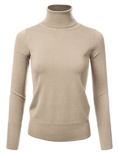 Womens Long Sleeve Turtleneck Sweater - 4