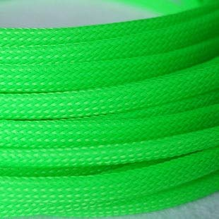 - Graven 1M 6mm Wire Mesh Guard RC Car Quadcopter Wiring Braided PET Expandable Auto Wire Cable Gland Sleeves High Density - (Color: UV Green)