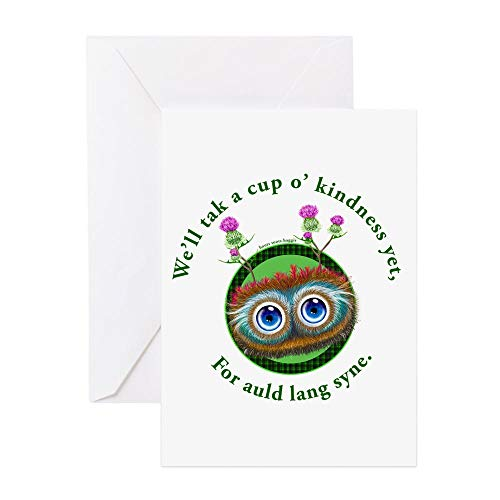 CafePress Hoots Toots Haggis. Auld Lang Syne Greeting Cards Greeting Card, Note Card, Birthday Card, Blank Inside Glossy