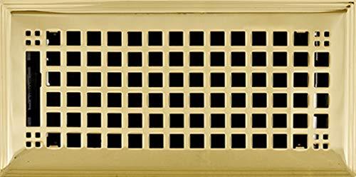 Brass Plated Steel Floor Register - 8