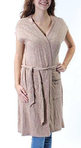 Tommy Hilfiger Women's Belted Sweater Vest (Warm Khaki, XS)