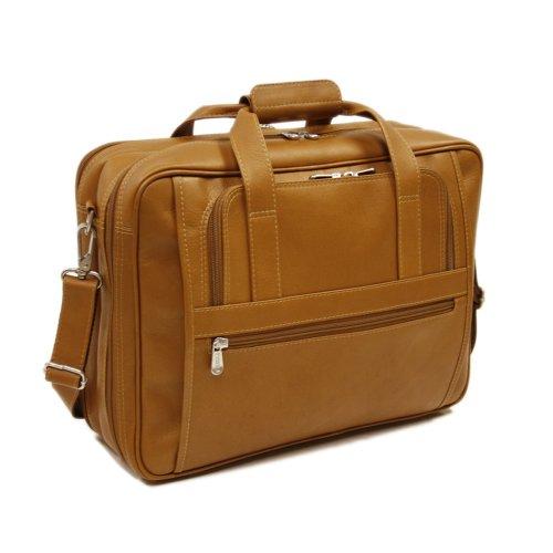 Piel Leather Large Ultra Compact Computer Bag, Saddle, One Size (Computer Saddle Bag)