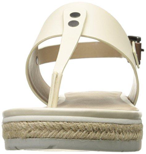 White Espadrille Sandal Calvin Mulan Klein Off Women's Vacchetta wRxp4Uzq
