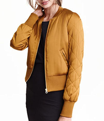 Yellow Women Raglan Heart women Sweet Quilted Sleeve Jacket Knit Niaona Cuffs Width 6q4PSwx
