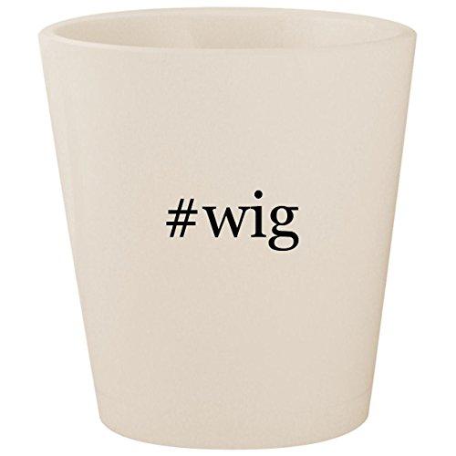 #wig - White Hashtag Ceramic 1.5oz Shot Glass ()
