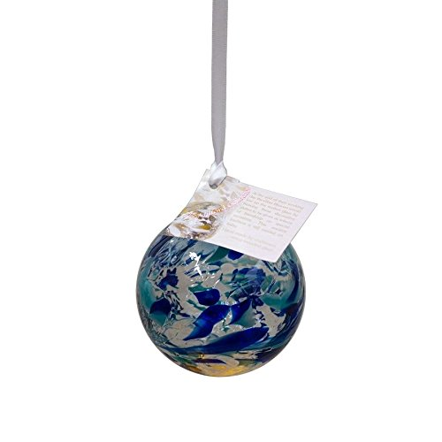 - The Milford Collection March Birthstone Friendship Globe | Mouth Blown Glass | Aquamarine | 9cm 3.5