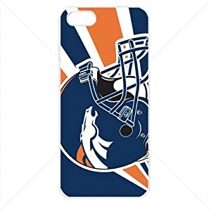 NFL American football Denver Broncos Fans Case For Iphone 5C Cover PC Soft (White)
