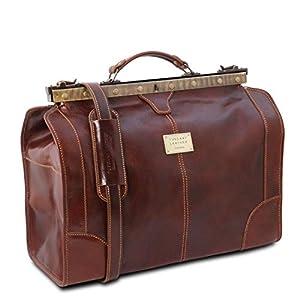 Tuscany Leather – Madrid – Gladstone Leather Bag – Small Size Black – TL1023/2