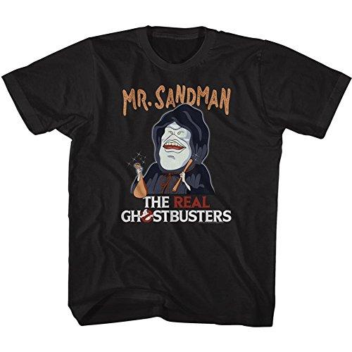 Ghostbusters Unisex-Child Mr. Sandman T-Shirt, Size: X-Small, Color: Black