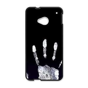 HTC One M7 Cell Phone Case Black Handprint Black G6Y6UD