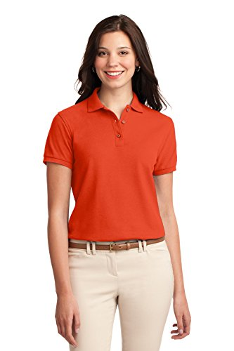 Port Authority Women's Silk Touch Polo S Orange ()