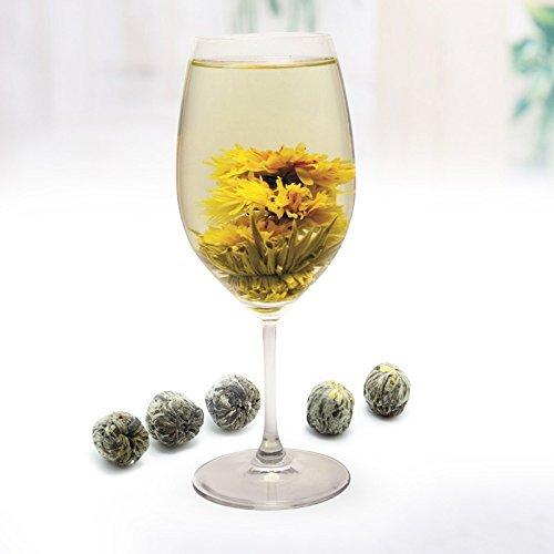 Lida-''Rising Step By Step'' Blooming Flower Tea/Art Green Tea-Loose Leaf Tea-1000g/35.3oz