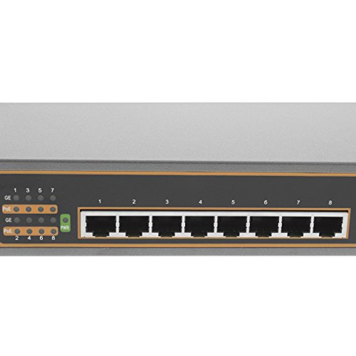 BV-Tech 8 Port Gigabit PoE+ Unmanaged Switch – 130W – 802.3at – POE-SW800G by BV-Tech (Image #1)