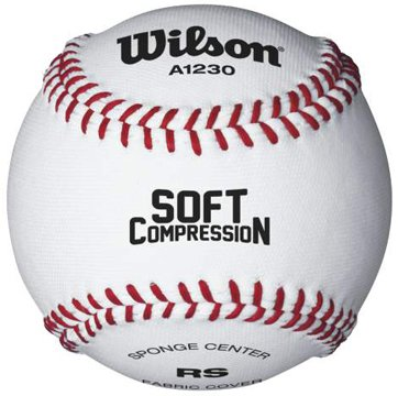Wilson A1230 Soft Compression Baseball (12-Pack), White, ...