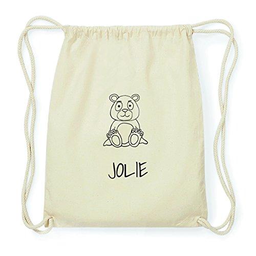 JOllipets JOLIE Hipster Turnbeutel Tasche Rucksack aus Baumwolle Design: Bär 2dGIgw