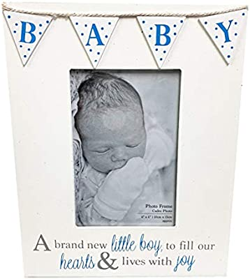 Baby Frame Flags Boy +Paper -Blue: Amazon.es: Bebé