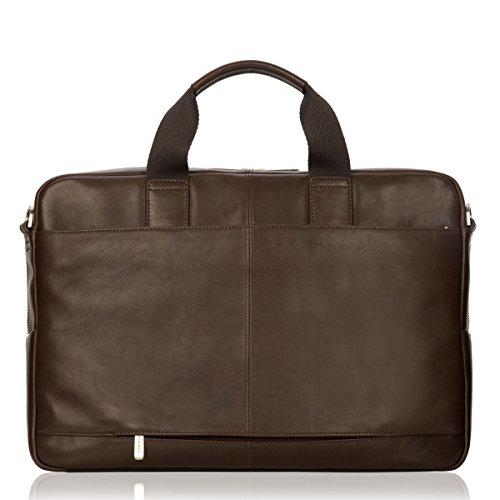 Knomo Luggage Brompton Amesbury Full Leather Double Zip