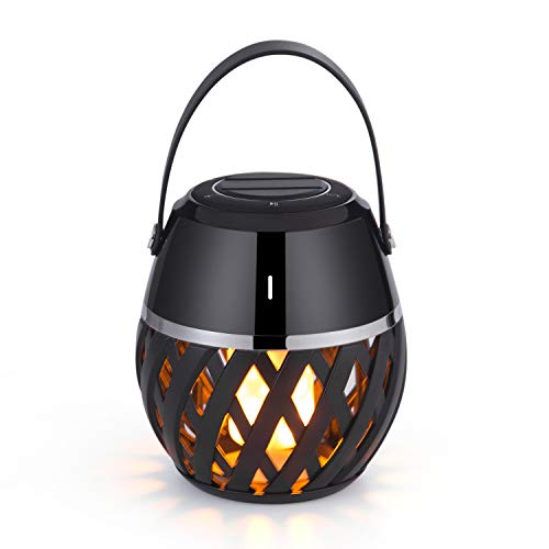 Price comparison product image Led Bluetooth Speakers – Portable Wireless Speakers– Flickering Flame Lights Lantern Bluetooth Speaker – Gift Ideas-Atmosphere Table Lamp– Premium Stereo Sound –Waterproof Indoor Outdoor Speakers