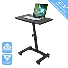 Work the way you want with Seville Classics' Mobile Laptop Computer Desk Cart. Designed with mobility in mind, the cart features four smooth-gliding, 1. 5 inch casters so you can take your work with you; two lock so the desk stays where you l...